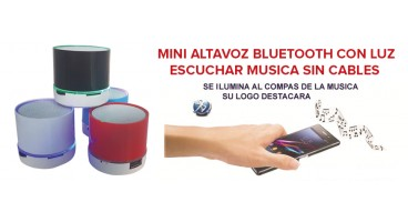 MINI ALTAVOZ BLUETOOTH CON LUZ