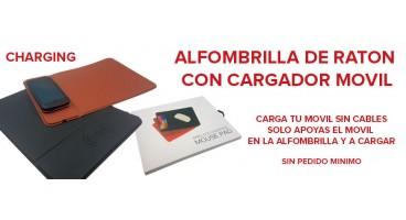 ALFOMBRILLA DE RATON  CON CARGADOR MOVIL