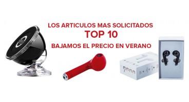 LOS ARTICULOS MAS SOLICITADOS  TOP 10