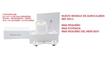 NUEVO MODELO DE AURICULARES  REF 601-C