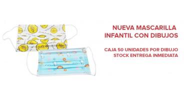 MASCARILLA INFANTIL CON DIBUJOS