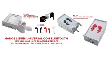 AURICULARES BLUETOOTH SIN CABLE